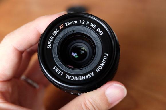 XF23mm F2 レンズ側から