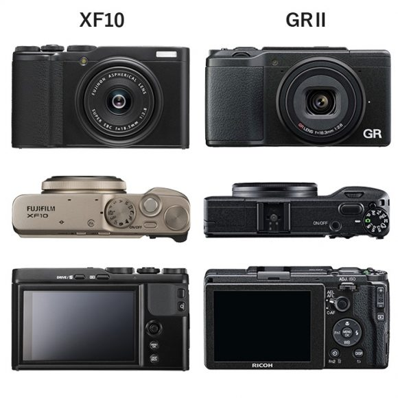 XF10 GR2 サイズ・デザイン比較