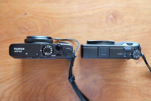GR3とXF10の大きさ比較 上面