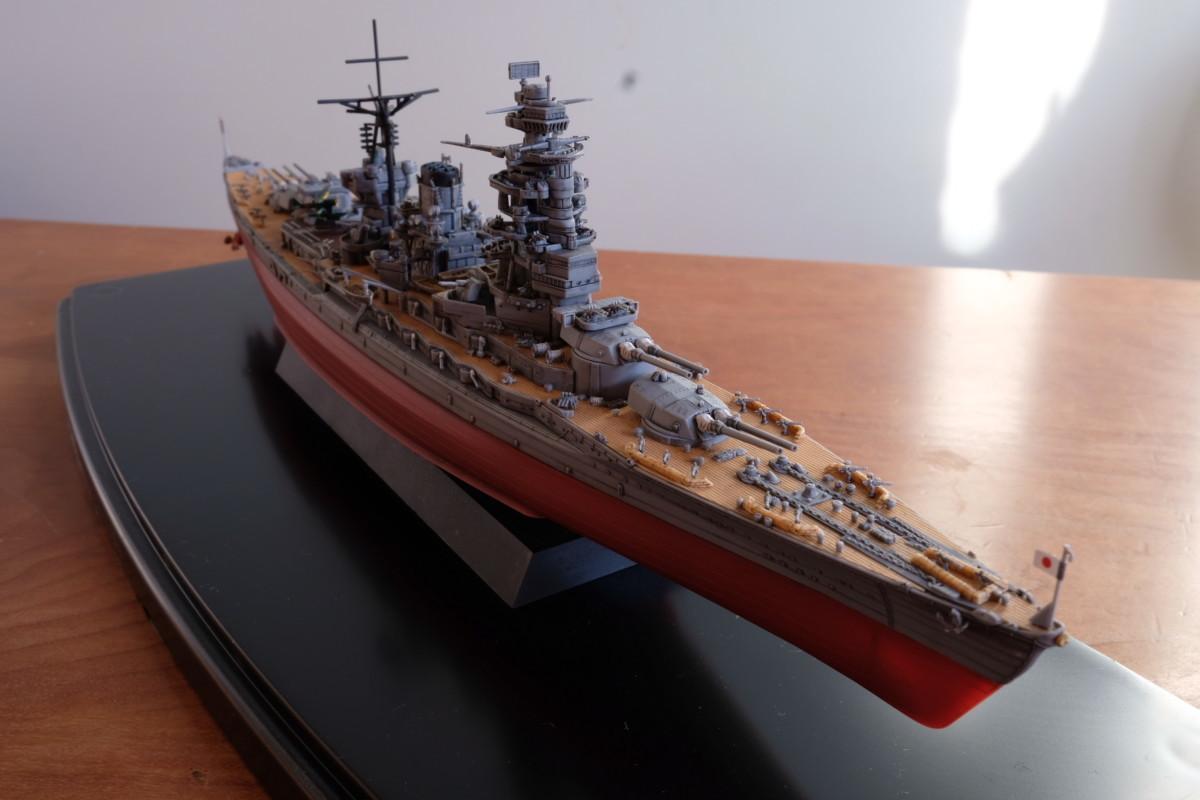 フジミ模型 艦NEXT 長門 塗装なし 完成