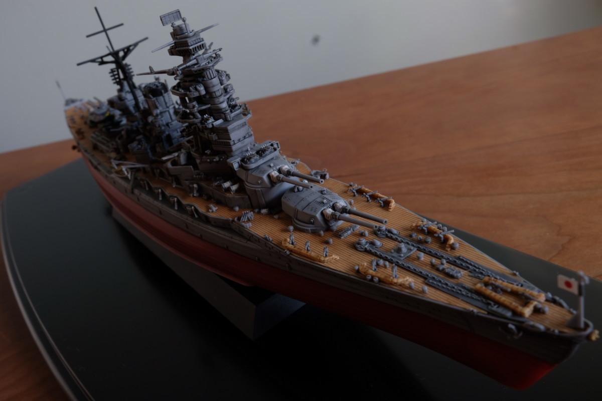 フジミ模型 艦NEXT 長門 塗装なし 完成 前側