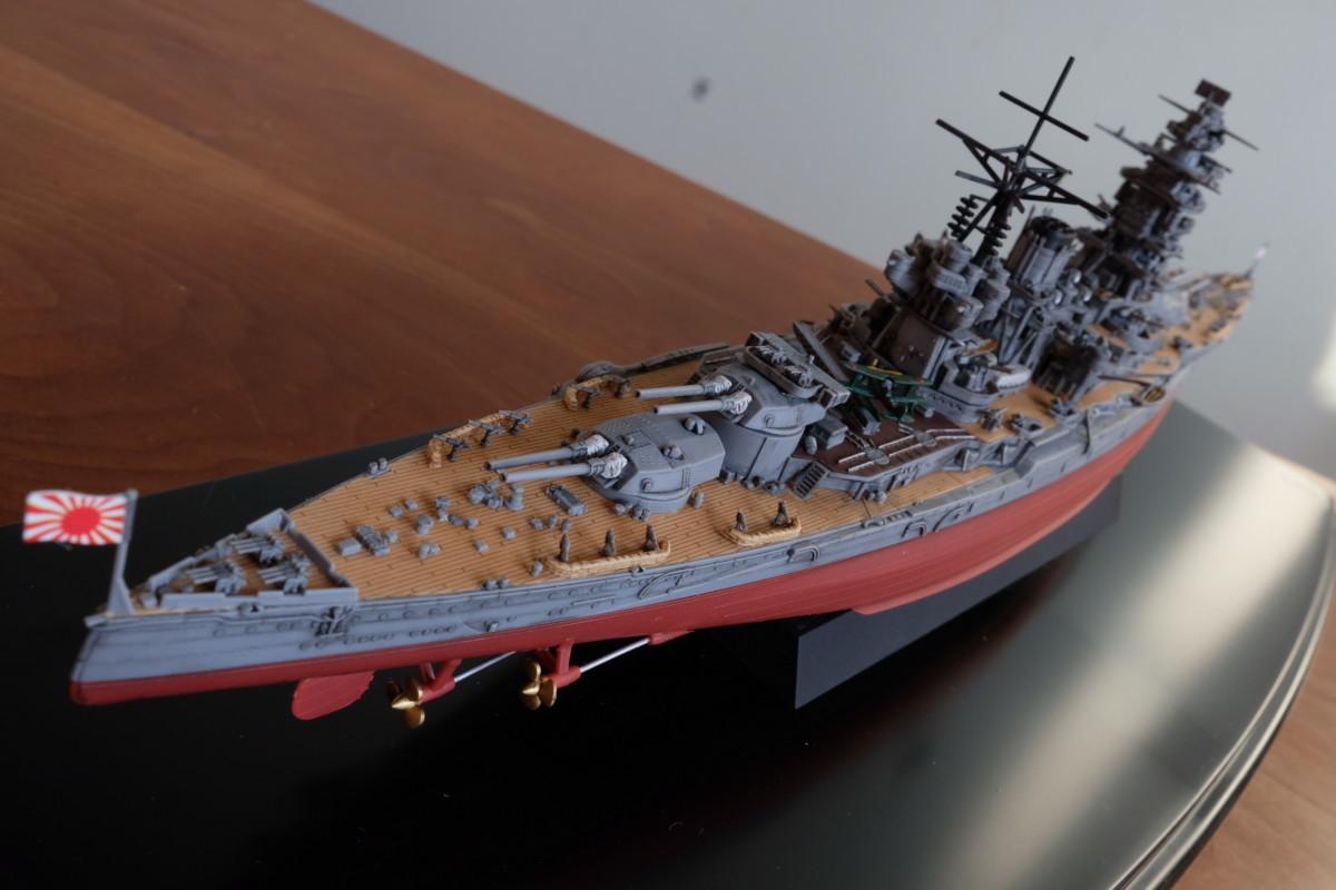 フジミ模型 艦NEXT 長門 塗装なし 完成 後方