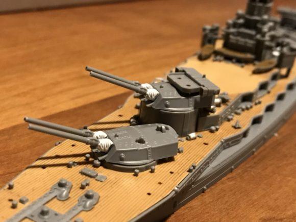 フジミ模型 艦NEXT 長門 砲塔 稼働
